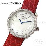 【エントリーで2/21 9:59迄】【値下げ!】HERMES エルメス レディース 腕時計 アルソー PM AR5.230a ダイヤベゼル ブレイズ アリゲーター 新品 (HERM