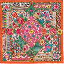 """【夏ボーナスでGET★】HERMES エルメス スカーフ カレ90 """"王室のコレクション"""" カプシーヌXグリーンXピンク シルク100% 新品 (HERMES Scarf Carre 90 """"Collection Imperiales"""" Capucine/Green/Pink Silk100%[Brand New][Authentic])【あす楽対応】【楽ギフ_包装】#よちか"""