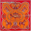 """【自分へのご褒美に★】【値下げ!】HERMES エルメス ショール ストール カレ140 スカーフ """"Paperoles"""" ルージュXオレンジ カシミヤ70% シルク30% 新品 (HERMES Shawl Carre 140 """"Paperoles"""" Rouge/Orange)【あす楽対応】#よちか"""