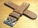 [HAMILTON] [Hamilton clock belt] exchange band cowhide clock band clock belt brown brown 22mm for [Hamilton clock band] [elegant temple] khaki X-WIND & AVIATION QNE