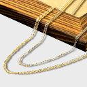 18金ネックレスチェーン 18金ネックレス 18kチェーン k18ネックレス ゴールド 単品 あずき スクリュー 小豆 レディース 金属アレルギー…