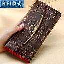 スキミング防止機能付き本革財布 牛革 女性へのプレゼントに最適な長財布 レディース財布 大容量 ギフト プレゼント ラッピング RFID じゃばら 磁気防止