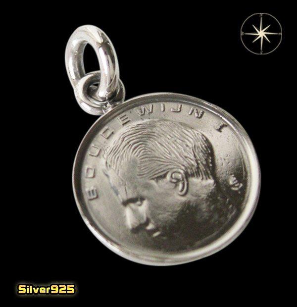 コイン 本物のベルギーのコインペンダント(2)/(メイン)ヨーロッパ・コイン・硬貨・ペンダント・ネックレス・・アクセサリー・メンズ・レディース送料無料!