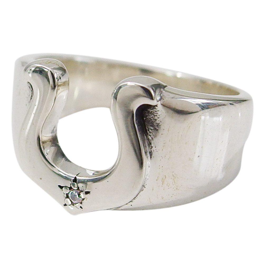 ホースシューリング(6)CZ09号・11号・13号・15号・17号・19号・21号(メイン) シルバー925 銀 メンズ レディース 送料無料 アクセサリー 馬蹄 蹄鉄 指輪 リング