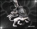 レゲエライオン 【メイン】・シルバー925・ペンダント動物銀ペンダントトップ(人気商品)/ネックレス(メンズ)(レディース)送料無料!