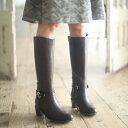 【アウトレット】[ラクチンきれいブーツ]筒周りが2タイプ選べるロングブーツ/ヴェリココ【マルイのラクチンシリーズ】【boots1017】