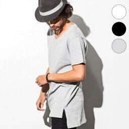 SHELLAC HOMME(シェラック オム) アシンメトリースリットデザイン ロングTシャツ/シェラックオム(SHELLAC HOMME)