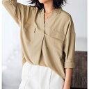 【大きいサイズ】洗える機能付とろみ素材シャツチュニック/ジーラ バイ リュリュ(ファッション)(GeeRA by RyuRyu)