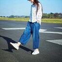 ゆったりブカジーパン/フェリシモ サニークラウズ(Sunny clouds)【dl】0101marui