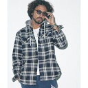 【ROYAL PALM】RPフード付きキルティングネルシャツ/