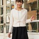 【WEB限定】ドットの透かしデザインが上品な着回し3点スーツ/ジーラ バイ リュリュ(ファッション)(GeeRA by RyuRyu)