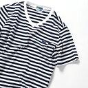 《一部予約》LACOSTE×SHIPS JET BLUE: 別注 ベーシックVネックTシャツ/シップス ジェットブルー(SHIPS JET BLUE)