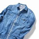 SHIPS JET BLUE: COOLMAX デニムシャツ/シップ