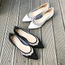 鞋子 - ドットチュールポインテッドフラットシューズ JE42708/アルテミスbyダイアナ(artemis by DIANA)