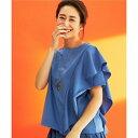 【SALE】【亜希さん着用】サファイアポンチ フリルTシャツ(
