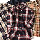 SU: ビッグ チェック レギュラーカラー 7スリーブシャツ...