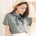スカーフ付スリット入りTシャツ/ジーラ バイ リュリュ(ファッション)(GeeRA by RyuRyu)