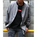 リブ使いシャツブルゾン/ヴァンスエクスチェンジ メンズ(VENCE EXCHANGE)