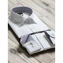 形態安定80双スリムフィットワイドカラー長袖ビジネスドレスシャツ/タカキュー(TAKA-Q)