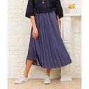 【9号(M)〜19号(5L)】【大きいサイズ】スカート見えサテンプリーツパンツ/サブストリート(大きいサイズ)(sab street my standard)