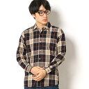 コットンツイルチェックシャツ/モルガンオム(MORGAN HOMME)