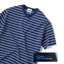 SHIPS JET BLUE: COOLMAX ボーダーVネックTシャツ/シップス ジェットブルー(SHIPS JET BLUE)