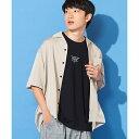 フィブリルオープンカラーシャツ/ウィゴー(メンズ)(WEGO)
