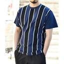 汗染み防止抗菌防臭 ストライプTシャツ/ティーケー タケオキクチ(tk.TAKEO KIKUCHI)