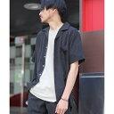 半袖オープンカラーシャツ/ジップファイブ(ZIP FIVE)