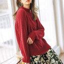ショッピングケーブル ローゲージケーブルデザインニット/ジーラ バイ リュリュ(ファッション)(GeeRA (fashion))