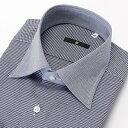 ショッピングワイシャツ クレリックワイドカラーワイシャツ/襟袖口:ネイビー×千鳥格子【BL-3MODEL やや細め】/スーツセレクト(メンズ)(SUIT SELECT)