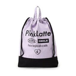 ツートンカラー巾着/<strong>ピンクラテ</strong>(PINK latte)