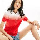 ショッピングトング Made In Flance オーガニックコットン グラデーションデザインポロシャツ (半袖)/ラコステ(LACOSTE)