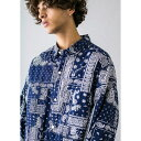 <monkey time> BROAD PAISLEY PRINT OVER SIZED CPO/ペ/モンキータイム(monkey time)
