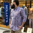 シアサッカーチェックワークシャツ/ノーリーズ メンズ(NOLLEY'S)