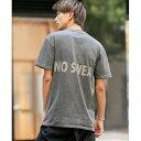 No sweat.コラボ / ピグメントWash バックロゴ Tシャツ/A・S・M(A.S.M)