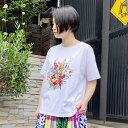 アンティークブーケプリントTシャツ/スーパーハッカ(SUPER HAKKA)