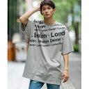 【London Denim】16/-空紡糸 天竺/オーバーサイズ プリント 刺繍 Tシャツ/A・S・M(A.S.M)