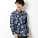 HERRINGBONE LARGE CHECK SHIRT/フレッドペリー(メンズ)(FRED PERRY)