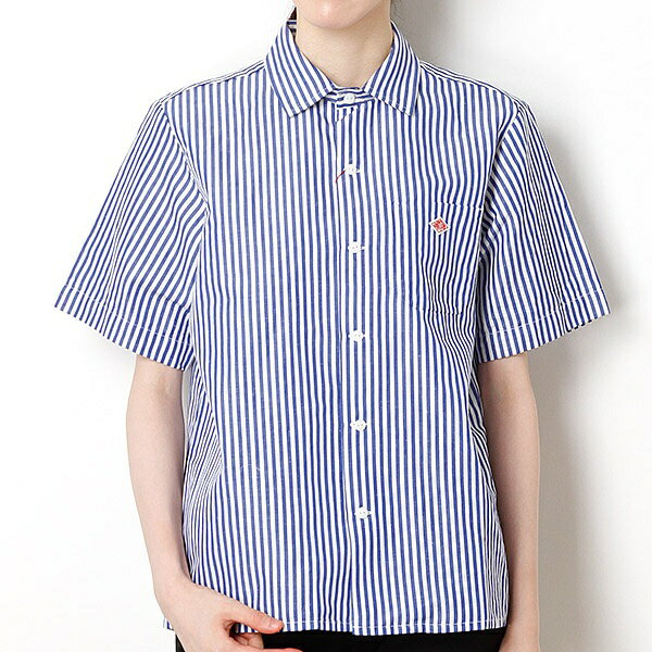 【DANTON】半袖ワークシャツ/ビショップ レディース(Bshop)