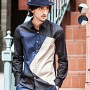 AKM Contemporary カラーブロッキングシャツ MADE IN JAPAN/AKM Contemporary(AKM Contemporary)