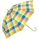 【長傘】【軽くて丈夫で持ちやすい】カラーチェック (雨傘/レディース)/w.p.c(WPC)