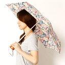 雨傘(4段/折りたたみ/ミニ/簡単開閉)【コンパクト/UV加工付き】花柄(婦人/レディース)/キャスキッドソン(Cath Kidoson)