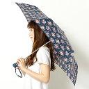 雨傘(3段/折りたたみ/ミニ/簡単開閉)【UV加工付き】花柄(婦人/レディース)/キャス・キッドソン(CathKidson)