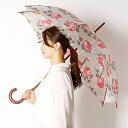 雨傘(長傘/手開き)バラ柄/花柄/木棒(婦人/レディース) /キャスキッドソン(Cath Kidoson)