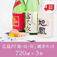 【送料無料 日本酒 ギフト セット】広島の「海・山・川」純米酒セット《リカーズ限定セレクト》《05P03Sep16》