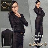 【】チェック柄の上質高級スーツ(hq-suit-03)