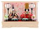雛人形 コンパクト ひな人形 雛 ケース飾り 親王飾り 藤翁作 みゆき アクリルケース オルゴール付 【2019年度新作】 h303-fn-163-308nr 【sr10tms】 おしゃれ かわいい 人形屋ホンポ