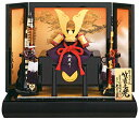 久月 五月人形 兜平飾り加藤峻厳作 1/4 竹雀赤糸縅兜 【...