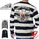 インディアンモトサイクル ベティブープコラボ 長袖Tシャツ ロンT メンズ INDIAN MOTOCYCLE Betty Boop bbi-904